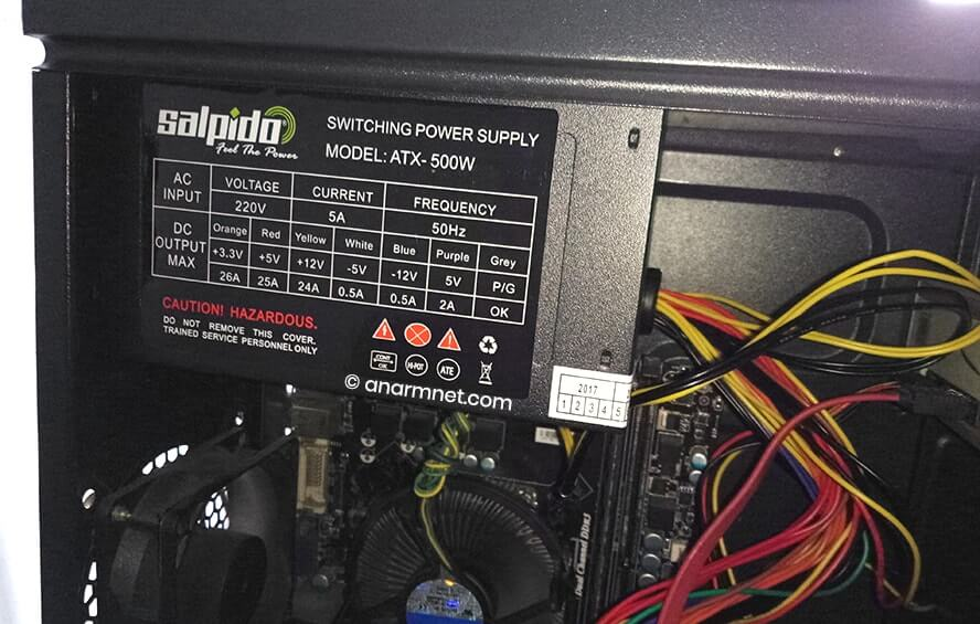 Salpido Power Supply ATX-500W