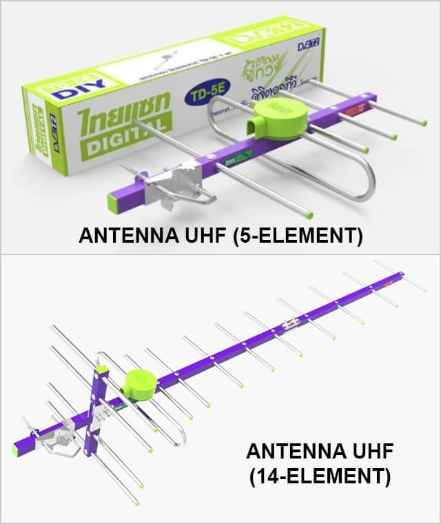 Antena Digital UHF jenis 5E dan 14E