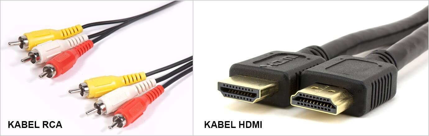 Kabel RCA dan HDMI