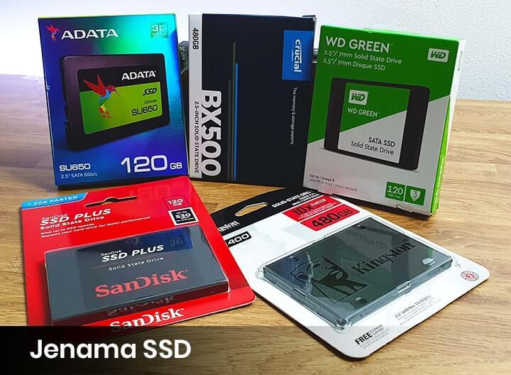 Jenama SSD terkenal