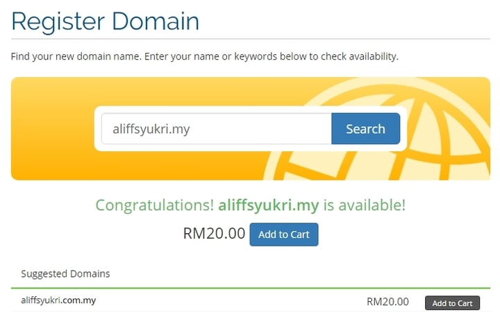 Carian nama domain .MY