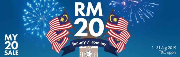 Domain .my RM20 promosi sempena hari merdeka 2019