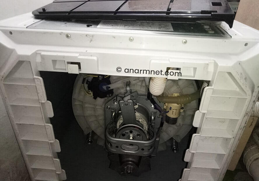 Cara tukar drain motor mesin basuh Toshiba AW-A820MM