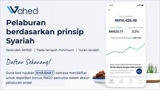 Wahed Invest platform pelaburan digital patuh syariah
