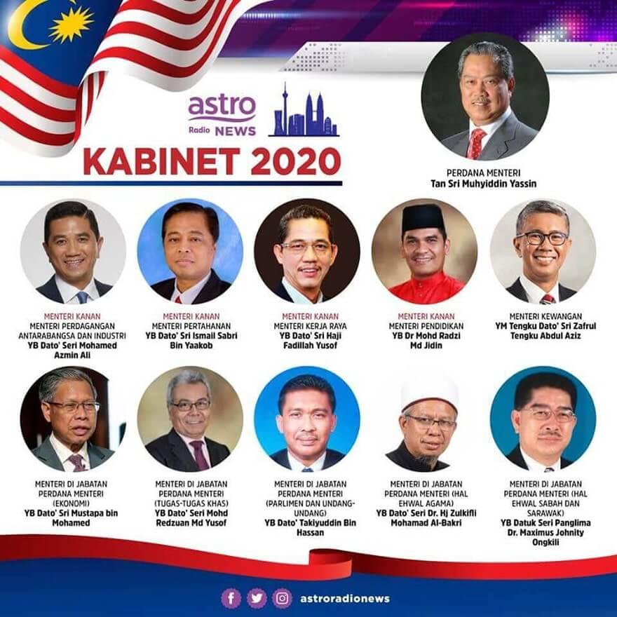 Menteri Kabinet Malaysia 2020