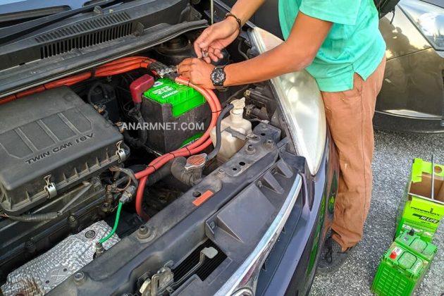Tukar bateri kereta jenama Amaron