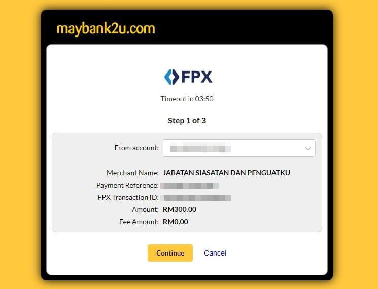 MyBayar Saman Maybank2u