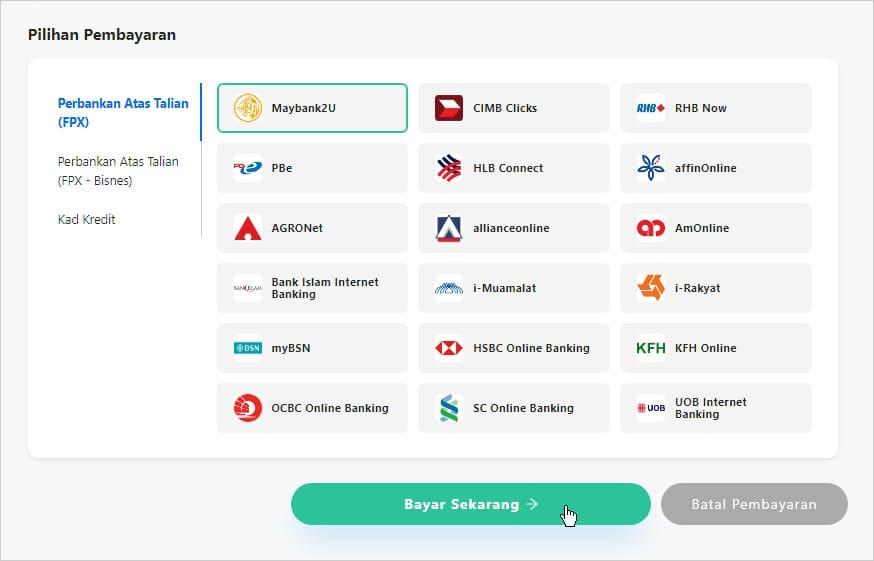 Kaedah pembayaran saman melalui MyBayar Saman